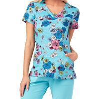 HeartSoul Flower Me With Turquoise Print Tops