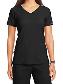 Angled Pocket V-Neck Top