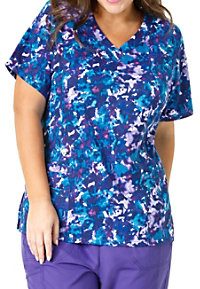 WonderWink Plus Inner Peace V-neck Print Scrub Tops
