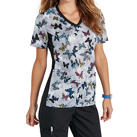 aaae98bf052 Cherokee Flexibles All About THats Flutter Print Scrub Tops ...