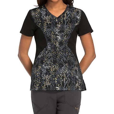 53620c5b80a Careisma by Sofia Vergara Give Me A Hiss Print Scrub Tops | Uniform City