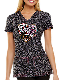 Floral Ever In My Heart Awareness Print Top