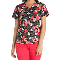 Cherokee Fleur-ever Yours Crossover Print Tops
