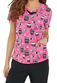 HeartSoul Hoos In Love Print Scrub Tops
