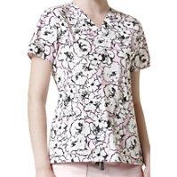 WonderFlex En Rose V-neck Print Tops
