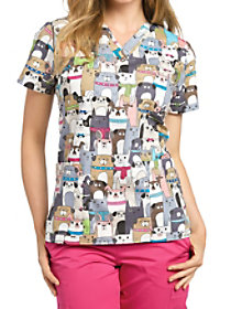Best In Show V-Neck Print Top
