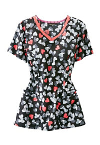 HeartSoul Love On The Rocks V-neck Scrub Tops