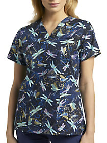 Dance of the Dragonfly V-Neck Print Top