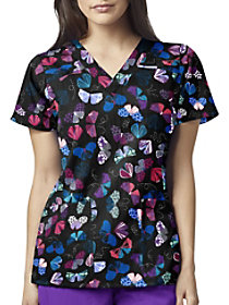 Give Me Butterflies V-Neck Print Top
