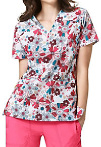 WonderWink Four-Stretch Spring Fling Print Scrub Tops