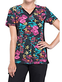 Brand New Blooms V-Neck Print Top
