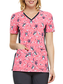 We're Owl In Line V-Neck Print Top