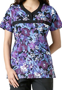 WonderFlex Nightshade Print Scrub Tops