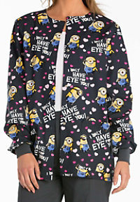 Cherokee Tooniforms Eye For You Print Scrub Jackets