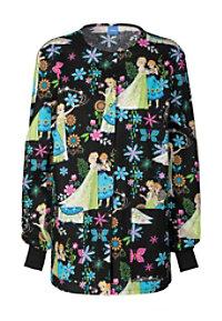 Cherokee Tooniforms Frozen Fever Print Scrub Jackets