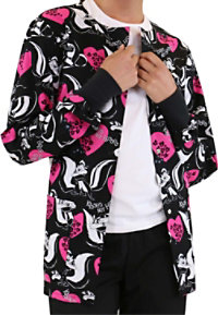 Cherokee Tooniforms Kisses Not Hisses Print Scrub Jacket
