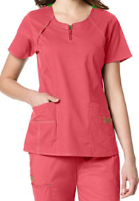 WonderFlex Heaven Fashion Zip Scrub Tops
