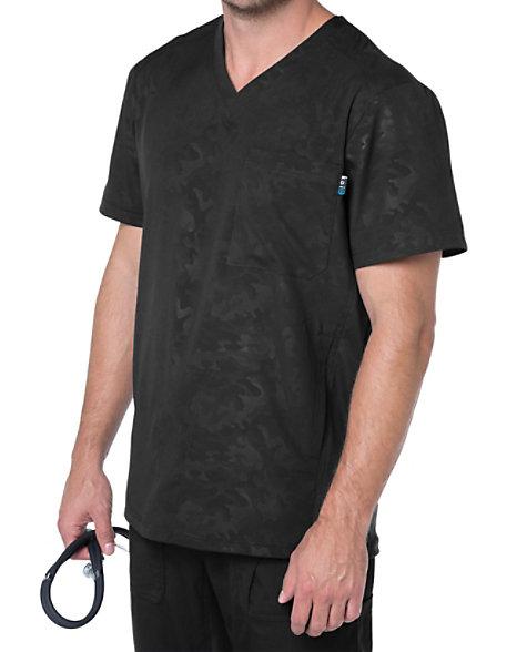 63e5645a30b Koi Lite Zen Men's Tonal Camo Printed Scrub Tops | Scrubs & Beyond