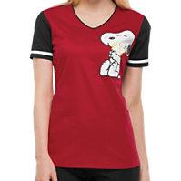 Cherokee Tooniforms Hug Me Snoopy Print Tops