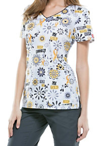 Dickies EDS Peace Love Cure Print Scrub Tops