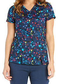 Dickies Xtreme Stretch Whats The Splatter Print Scrub Tops