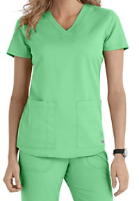 Grey's Anatomy 2 Pocket V-neck Scrub Tops