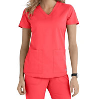 Grey's Anatomy V-neck 2-pocket Tops