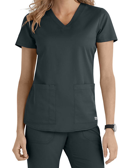 e1a554fb777 Grey's Anatomy 2 Pocket V-neck Scrub Tops | Scrubs & Beyond