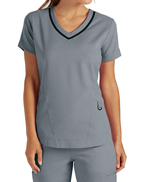 Greys Anatomy Impact Harmony 3 Pocket Shaped Hem Scrub Tops