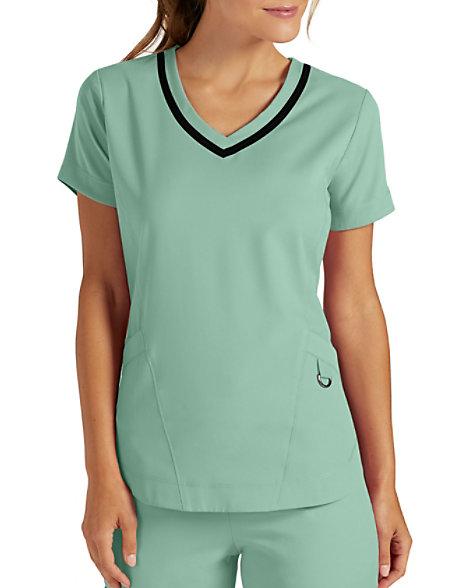 c11a17811e5 Grey's Anatomy Impact Harmony 3 Pocket Shaped Hem Scrub Tops   Scrubs &  Beyond