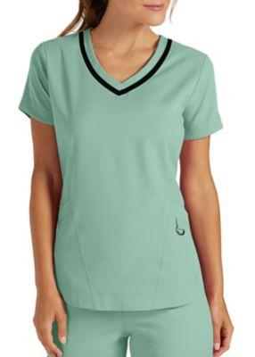 Grey's Anatomy Impact Harmony 3 Pocket Shaped Hem Scrub Top
