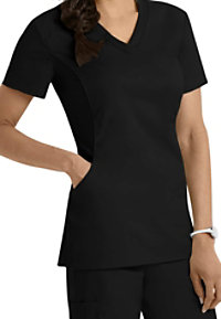 White Cross Allure V-neck Scrub Tops