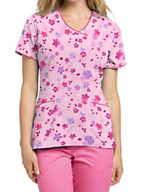 Growing Up V-Neck Print Top