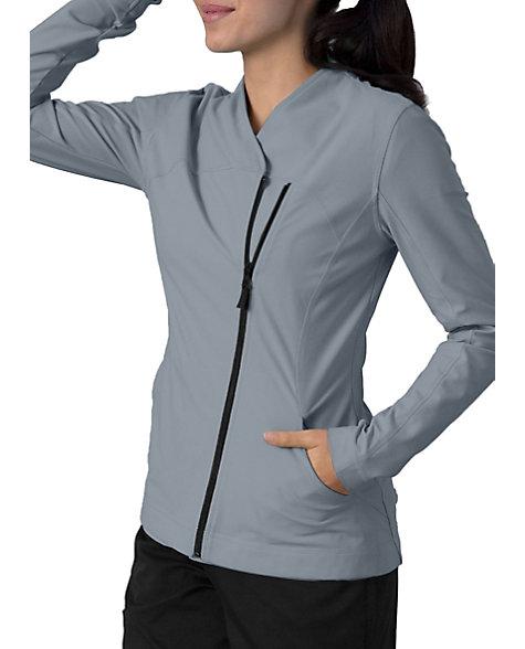 Grey S Anatomy Impact Sorona Asymmetric Zip Scrub Jackets
