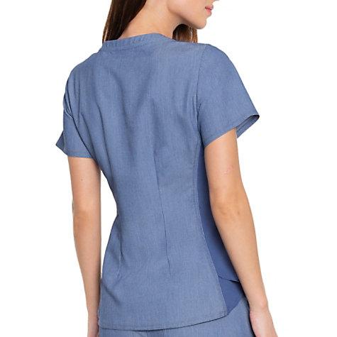 31861f8c041 Med Couture Touch Kerri Shirttail Hem Vneck Scrub Top   Uniform City