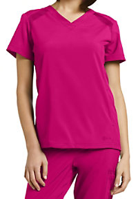 White Cross Fit Women's V-neck Scrub Tops