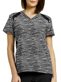 My Grey Space V-Neck Print Top