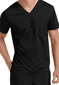 Landau For Men Prewashed One-pocket V-neck Scrub Tops