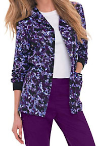 Landau Smart Stretch Purple Reign Print Scrub Jackets