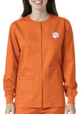 WonderWink Collegiate Clemson Tigers Unisex Scrub Jacket