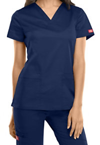 Dickies Gen Flex Youtility 2-pocket V-neck Scrub Tops