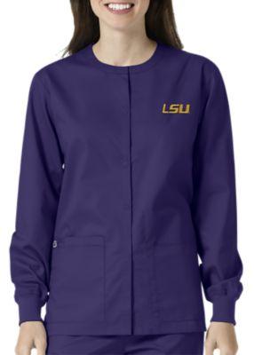WonderWink Collegiate LSU Tigers Unisex Scrub Jacket