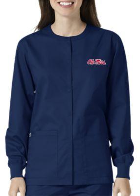 WonderWink Collegiate Mississippi Rebels Unisex Scrub Jacket