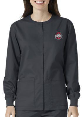 WonderWink Collegiate Ohio State Buckeyes Unisex Scrub Jacket