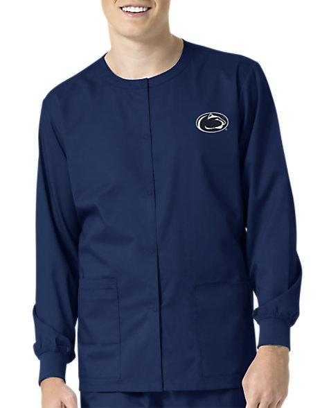 WonderWink Collegiate Penn State Nittany Lions Unisex Scrub Jacket ... 8c135598a