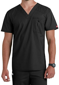 Dickies EDS Signature Stretch Men's V-neck Scrub Tops With Certainty