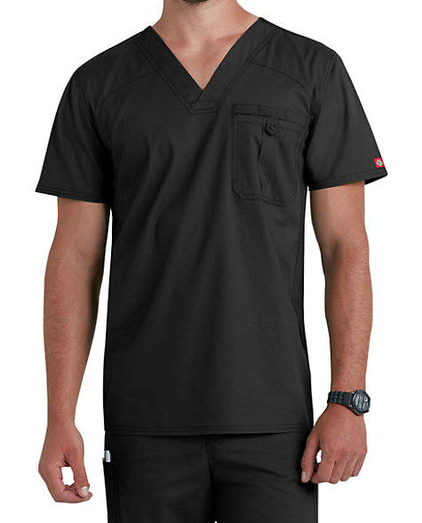 d29c34a0829ad7 Dickies EDS Signature Stretch Men's V-neck Scrub Tops With Certainty |  Scrubs & Beyond