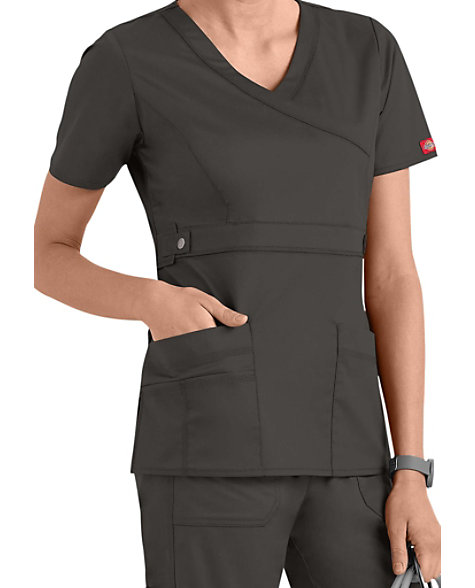 611c191b18c Dickies Gen Flex Youtility Mock-wrap Scrub Tops | Scrubs & Beyond