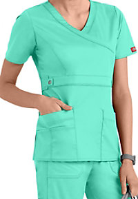 Dickies Gen Flex Youtility Mock-wrap Scrub Tops