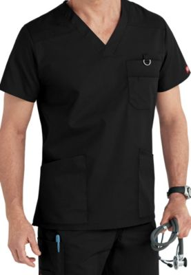 4 Pocket V-Neck Top With Badge Loop